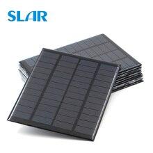 9 в 12 В 18 в солнечная панель 1,5 Вт 1,8 Вт 1,92 Вт 2 Вт 2,5 Вт 3W 5 Вт 10 Вт 20 Вт мини-элемент для солнечной батареи зарядное устройство для телефона портативный DIY PV