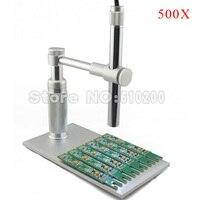 500X Zoom 2MP 8LED USB Digital Microscope Endoscope USB Magnifier Camera Aluminium Alloy HOLDER FOR Pcb