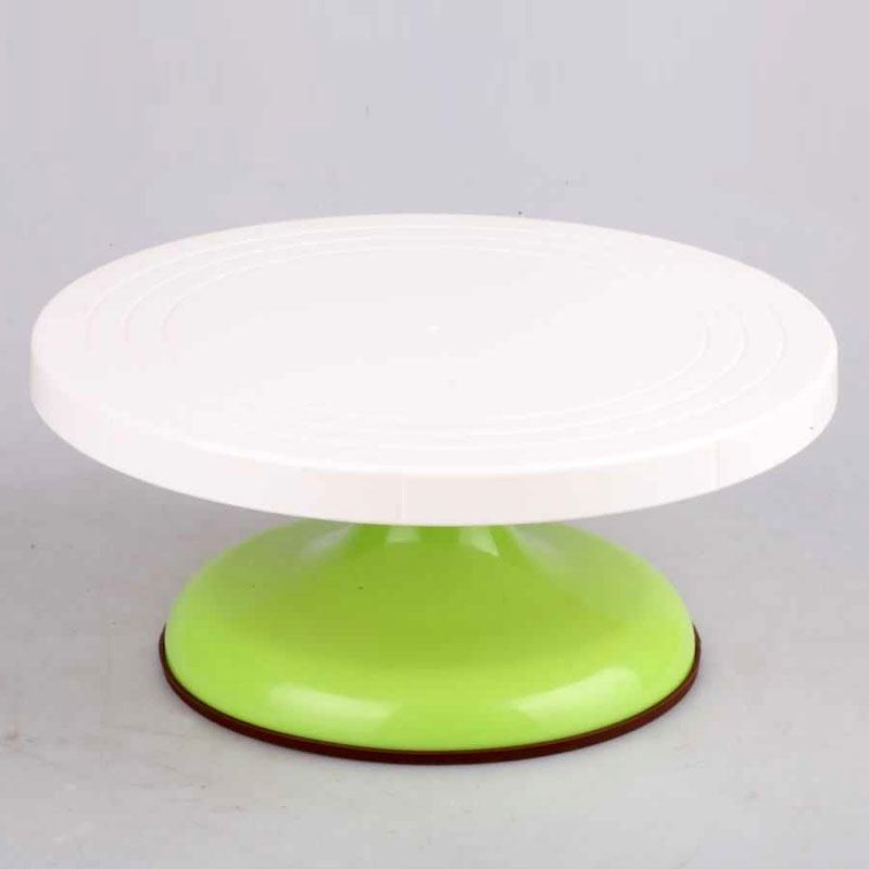 Birthday Cake Decorating plastic turntable table rotating disc turntable professional turntable slip bakeware ...