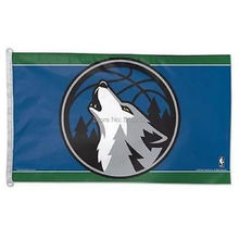 Minnesota Timberwolves Flag 3×5 FT 150X90CM Banner 100D Polyester NBA flag 126, free shipping
