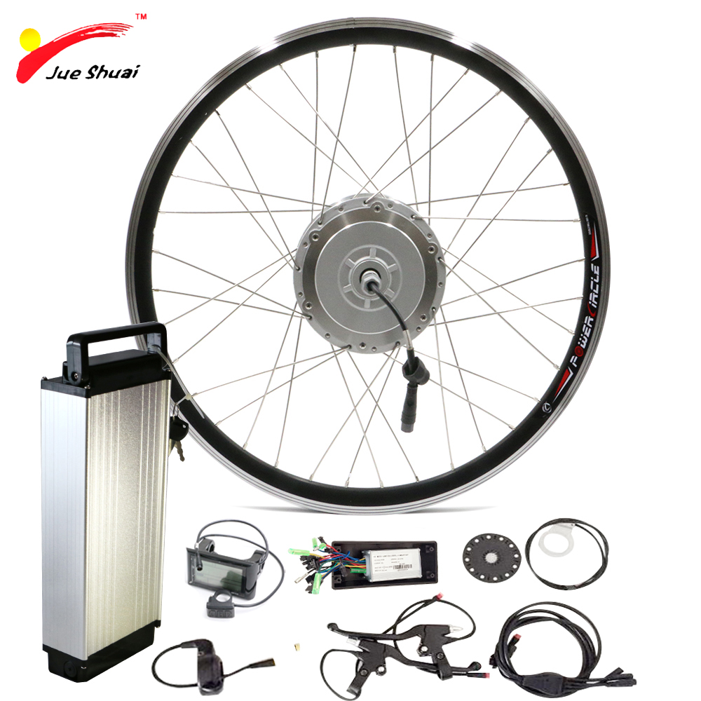 цена на 48V 500W Electric Bike Kit with Battery SAMSUNG Front Bicycle Electric Wheel Motor Powerful Ebike E-bike Electric Bike Kit