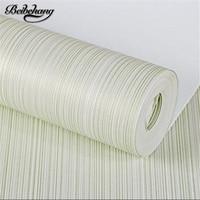 beibehang Plain vertical striped yarn wallpaper simple modern non woven bedroom living room study office background wallpaper