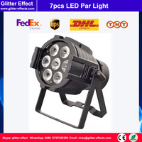 Disco club 7pcs LED Color Par light RGBW 4 in 1 DJ Super Bright star Par Tri 7x12W LED Stage party Lighting