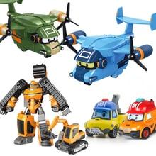 Robocar Poli Корея детские игрушки Аниме Фигурки игрушки carey carrier Танк Полицейский Автомобиль Металлический Игрушечный Автомобиль Модель автомобиля игрушки для детей