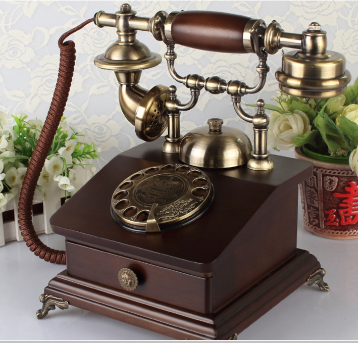 US $122 8 |Antique fashion wood vintage telephone home fashion old  telephone-in Telephones from Computer & Office on Aliexpress com | Alibaba  Group