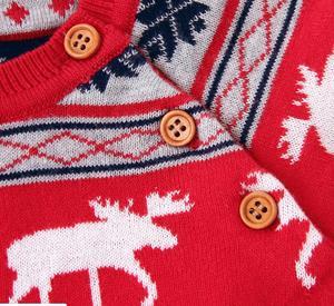 Image 5 - Рождественская одежда для малышей, Вязаный комбинезон для маленьких девочек и мальчиков с шапкой, Детский комбинезон хлопок с оленем, комплект одежды для новорожденных