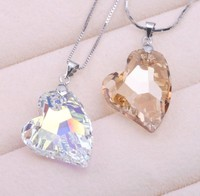 Fashion Jewelry Best Quality 100 925 Sterling Silver Crystals From Swarovski Pendant Necklaces Women Handmade Maxi