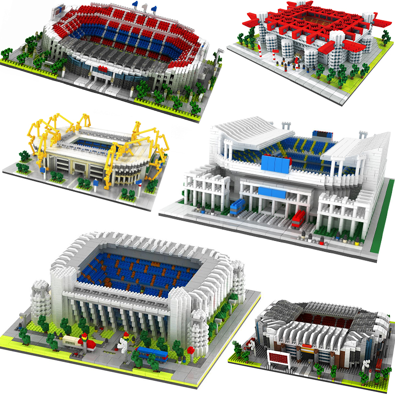 Great Football Stadium Field Gym Model Building Block sets NO Compatible Legoed Architecture Spain England Soccer