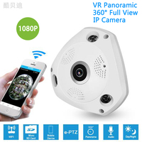 1080P HD Wifi Fisheye Camera 360 Degree Panoramic Camera 2 0 MP Wifi Camera Night Vision