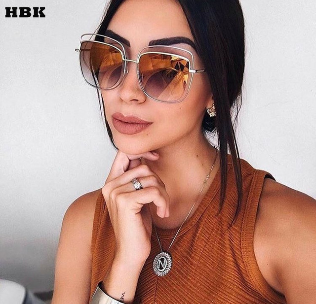 bbc842b93ab 2017 Fashion Sunglasses Women Luxury Brand Designer Vintage Sun glasses  Female Square Glasses Shadow Style Eyewear UV400