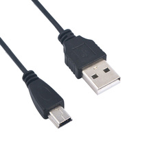 High Quality 70cm USB 2.0 A male to MINI B V3 5 PIN 5P Sync data charging charger cables For MP3 MP4 Digital Cameras