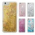 Transparente Moda Dinâmico Líquido Glitter Colorido Paillette Areia Quicksand Voltar case capa para iphone 5 5s se 6 6 s 7 ALÉM de