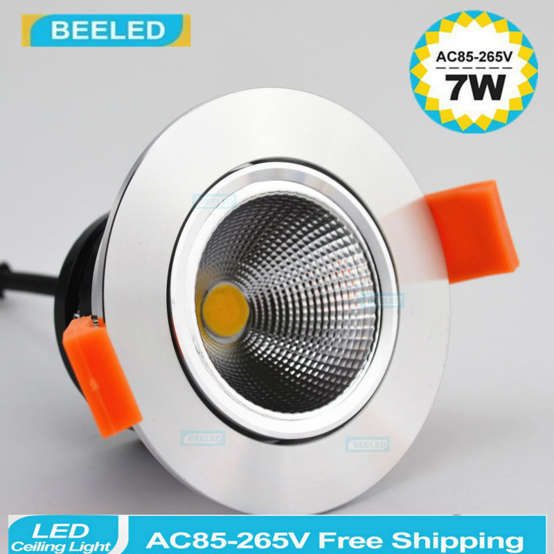 LED Downlights COB 3W 5W 7W Recessed LED downlight led bulb Spot Light Lamp warm white aluminum dimmable 220V 110V home decor in Downlights from Lights Lighting