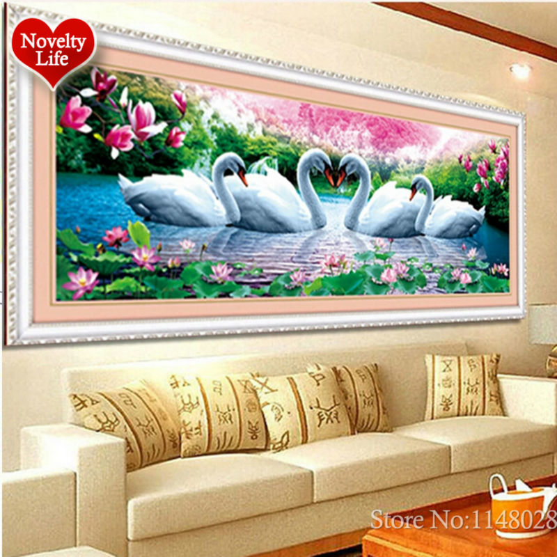 Image 4 - 5D 3D Diy Diamond Embroidery Crystal Painting Flowers Swans Love Magnolia Picture With Colored Rhinestones Wedding Decoration-in Diamond Painting Cross Stitch from Home & Garden on AliExpress