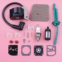 Ignition Coil Air Fuel Filter Line Hose For Stihl FS38 FS55 Spark Plug Carburetor Repair Kit Grass Trimmer Replace Spare Part