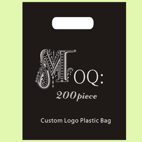 Custom Logo Plastic Bags 40x50cm pack of 200 Makeup Jewelry Scraf Glasses Garment Handing shopping pouches