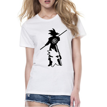 Dragon Ball Kawaii Alien Goku Harajiku T-shirt Women Punk Funny Animes Blusa Female T Shirt For Couple Clothes Halloween