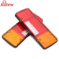 2Pcs 12V LED Rear Tail Lights 92LED Reverse Lamp 5 Function For Trailer Caravan Truck Lorry