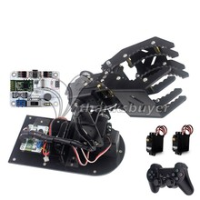 Assembled Robot Mechanical Arm 4DOF Claw with 6 Channel Bluetooth Controller Handle Servos