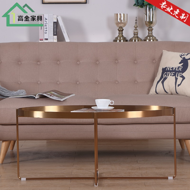 Metal Oval Coffee Table in Black / Gold / Rose Gold