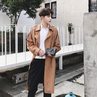 2017 Winter New Men Fashion Back Piece Overlap Design Chamois Type Version High Quality Solid Color