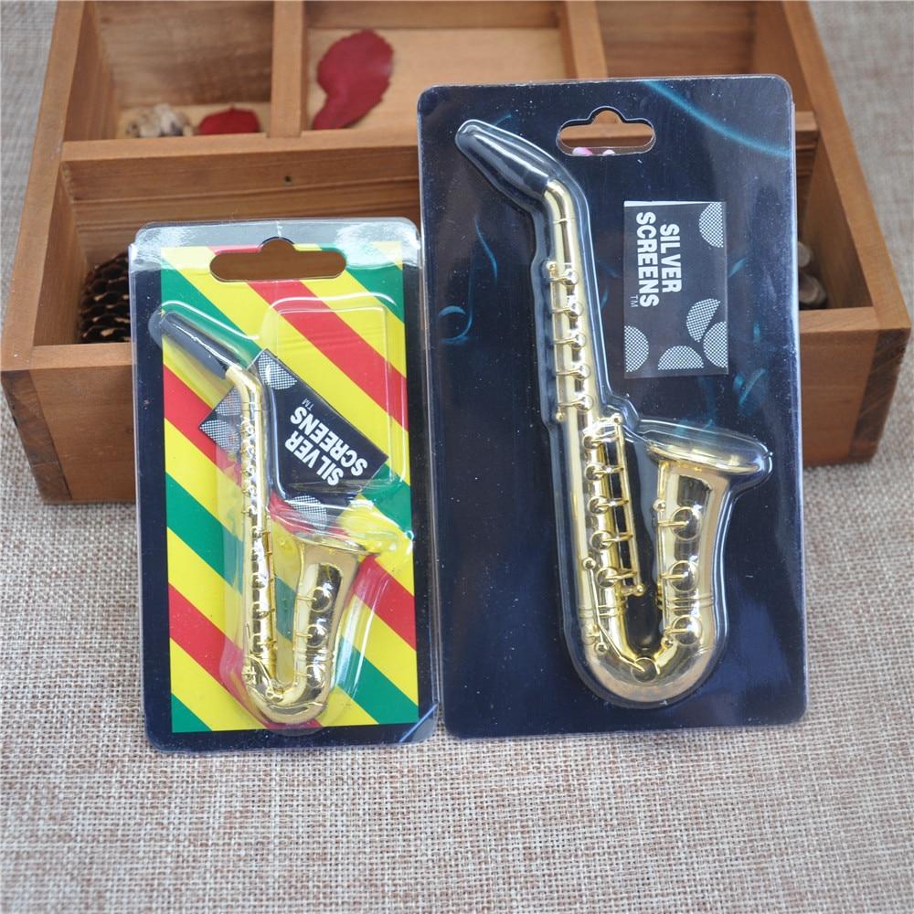 Two Style Small / Big Reggae Saxophone Shaped Metal s