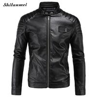 Brand Leather Jacket Men 2016 Autumn Winter O Collar Jaqueta De Couro Masculina PU Mens Leather