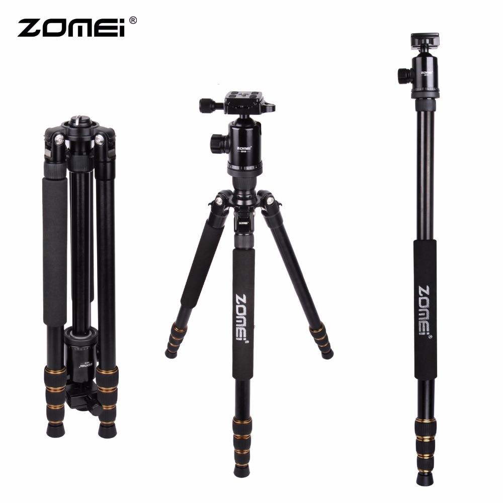 Zomei Z688 Aluminum Professional Tripod Monopod Ball Head For DSLR Camera Portable SLR Camera stand Better