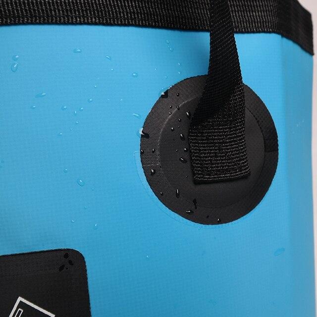 SZX 12L/20L 500D folding bucket fishing waterproof buckets portable folding bag storage outdoor car wash camping fishing bucket 5