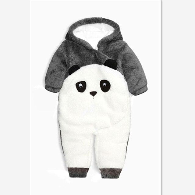 Mamelucos del bebé recién nacido de Invierno Panda ropa Del Bebé Del Mono de  algodón vellón. Sitúa el cursor encima para ... fd42af89f11