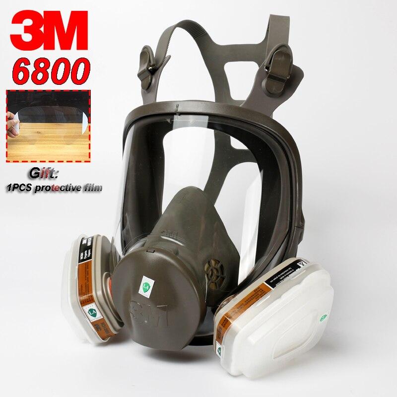 3 M 6800 masque à gaz respirateur tout neuf peinture en aérosol pollution industrielle gaz toxique masque complet colonne à bulles transport masque de protection