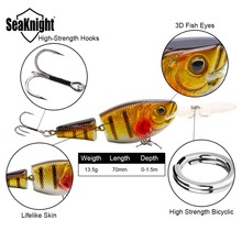 SeaKnight SK028 Jointed Bait 13.5g 70mm 0~1.5M 1PC Crankbait Floating Lure 2 Sections Hard Fishing Bait Lake River Fishing Lure