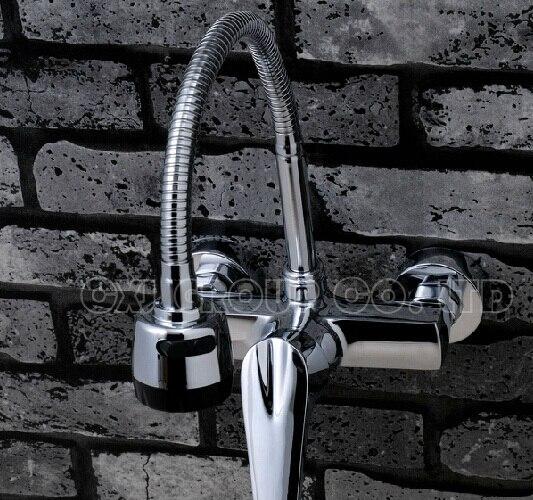 aliexpresscom acquista spedizione gratuita in ottone cromato rubinetti per lavello da cucina rubinetto miscelatore a doppio foro della parete miscelatore