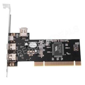 PCI 4 порта Firewire IEEE 1394 1394A 4/6 Pin адаптер для карты контроллера