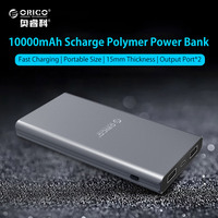 ORICO Power Bank 10000mAh External Battery Portable Mobile Backup Bank Charger For Android IPhones Alluminum Alloy