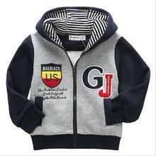Seguridad de Los Niños del Muchacho Camisas y Sudaderas Primavera Otoño 2016 Nuevo Ocio de La Manera de la Cremallera Outwear Niños Ropa Outfit