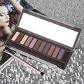 HOT 12 Cor Dos Olhos Sombra Maquiagem Cosméticos Shimmer Matte Eyeshadow Palette + Escova com caso