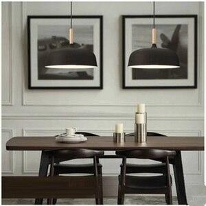 Image 3 - LukLoy lampe suspendue en bois, design moderne, luminaire dintérieur, luminaire dintérieur, idéal pour une cuisine, un salon, LED, lampe à LED