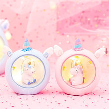 Unicorn LED Night Sleep Light Luminous Toys For Children Baby Kids Cartoon Romantic Bedroom Decor Lighting Birthday Xmas Gift(China)