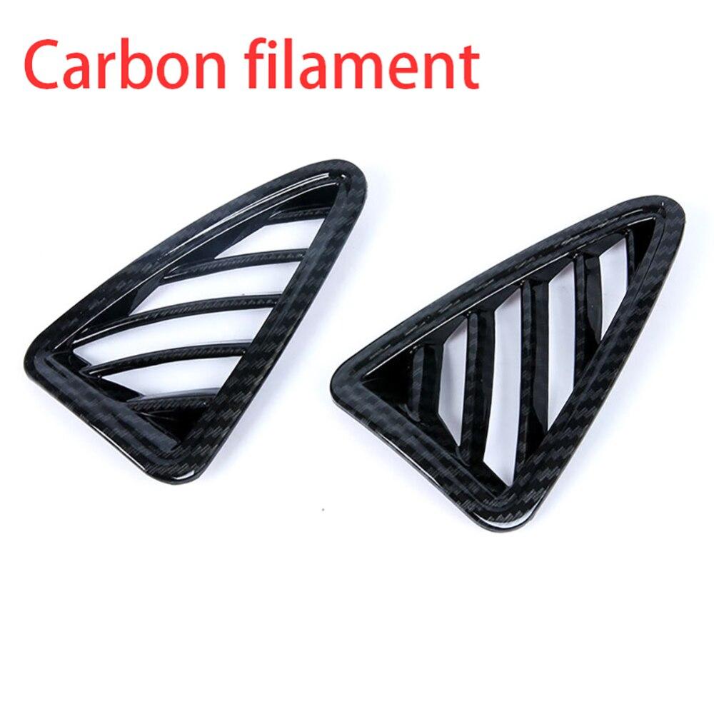2017 2018 For Mazda CX-3 CX3 Carbon Fiber Look Upper Air Vent Outlet Cover Trim