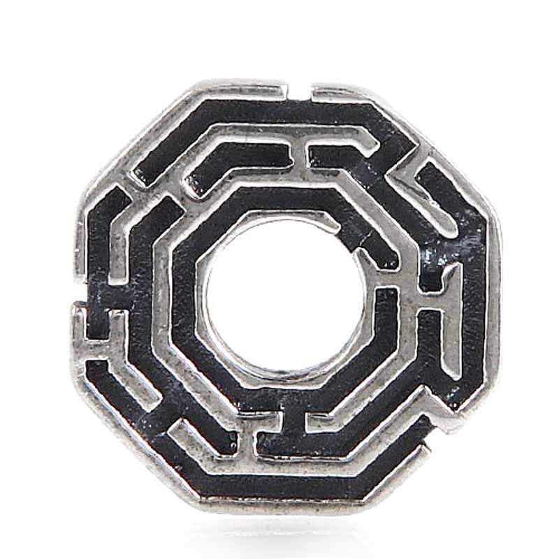 925 ստերլինգ արծաթե լաբիրինթոսի բշտիկ - Նորաձև զարդեր - Լուսանկար 2