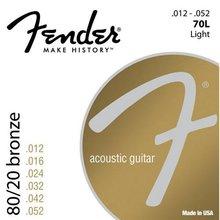 Fender 70L 80/20 Bronze Acoustic Guitar Strings, Light, 12-52