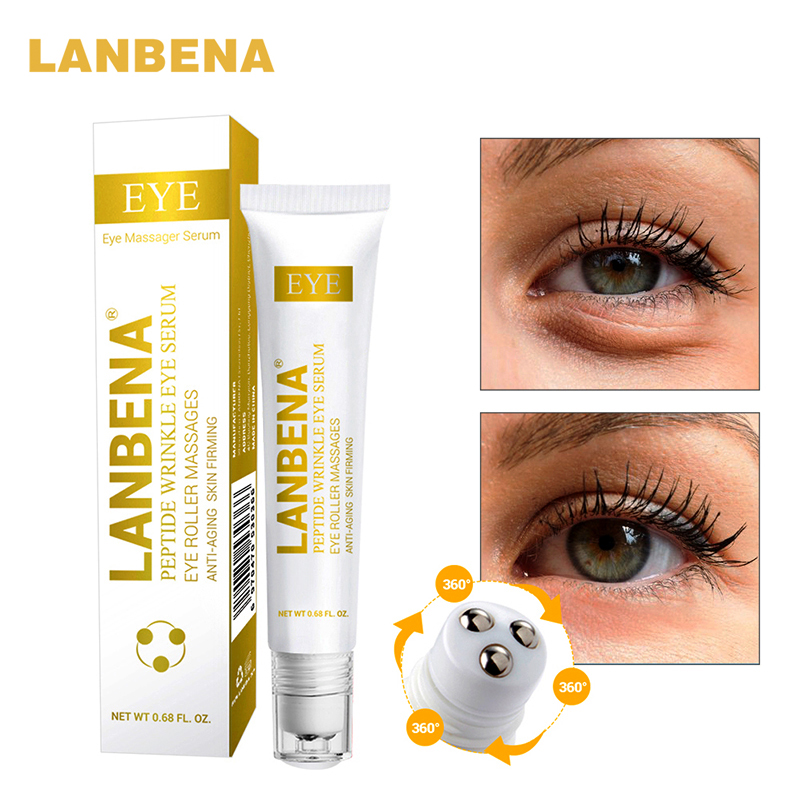 LANBENA Snail Repair Eye Serum Anti Dark Circles Puffiness Moisturizing Anti-Aging Eye Patch Whitening Face Skin Care Cosmetics black blade ceramic knife set chef s kitchen knives 4 size