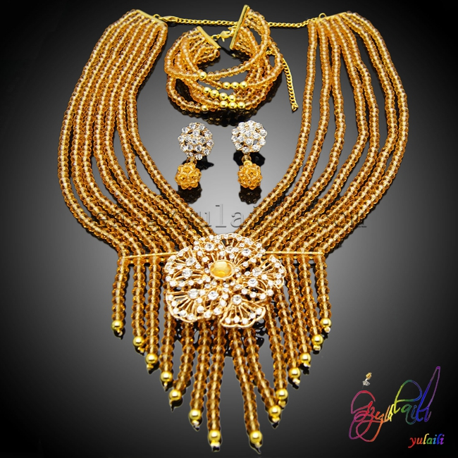 Здесь продается  African crystal beads jewelry set most fashion jewelry necklace for wedding Guangzhou wholesale price jewelry set  Ювелирные изделия и часы