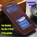 Флип Coque window cover case для xiaomi redmi 3 pro 3 s s 3x x pu leather Case with stand