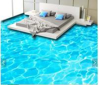3d Wallpaper Custom 3d Flooring Painting Wallpaper Murals Beautiful HD Blue Water Bathroom Floor 3d Living
