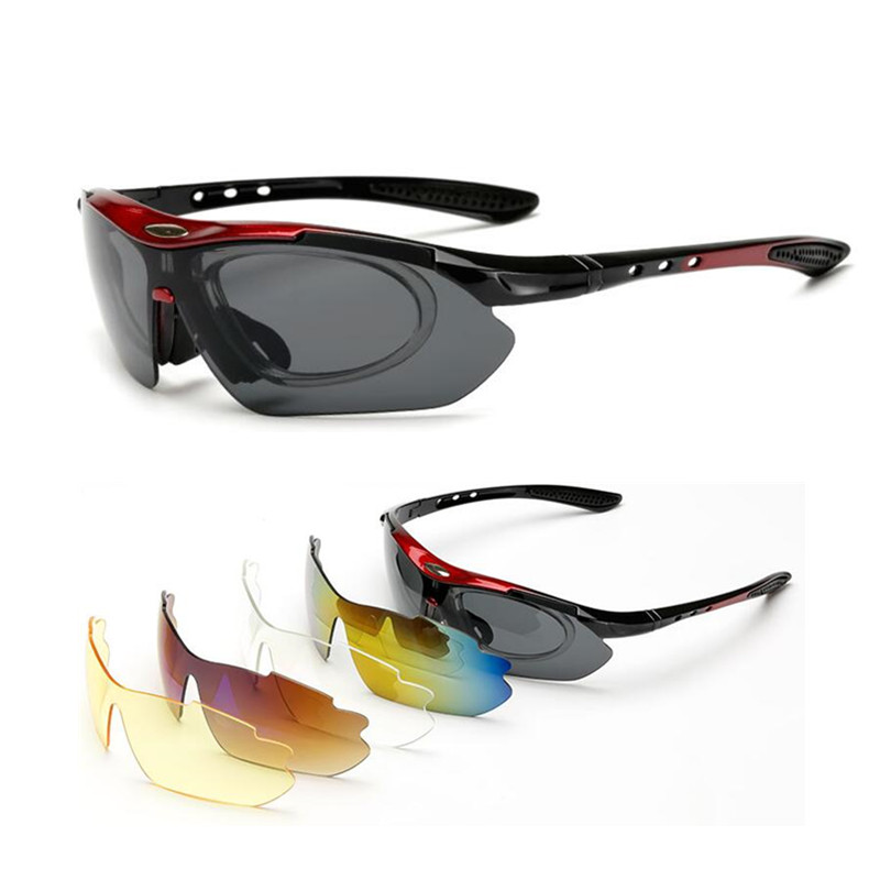 Protection Goggles Laser Safety Glasses 5 Lens Polarized Sunglasses  Eye Spectacles Protective Eyewear Outdoors Sports SunGlass