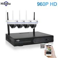 4CH 960P HD Wireless CCTV System Mini Dome Powerful WIFI NVR IP Camera IR CUT CCTV Camera Security Surveillance Kits Hiseeu