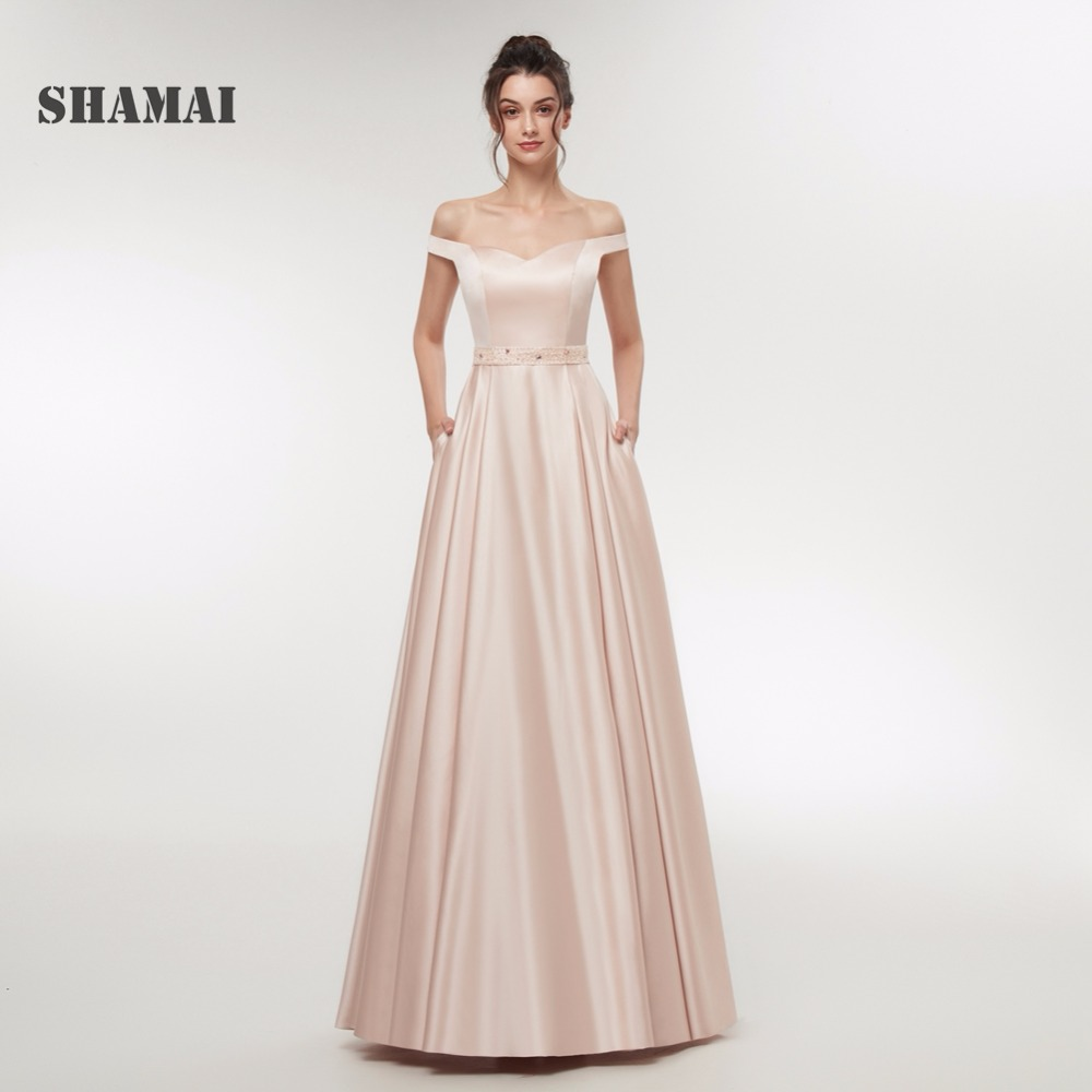 SHAMAI Long Evening Dresses 2018 Formal Prom Dress Off Shoulder ...