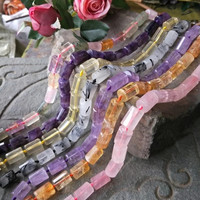 amethyst/pink quartz/citrine/ pillar faceted 12*18mm 15 for DIY jewelry making loose beads FPPJ wholesale beads nature